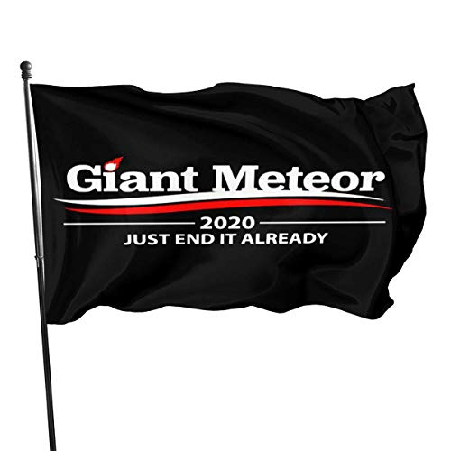 BHGYT Giant Meteor 2020 Gartenflagge Patry Flagge Outdoor Flagge Gartenflagge Outdoor Yard Flagge Wand Rasen Banner Home Flag Dekoration 3 'X 5'