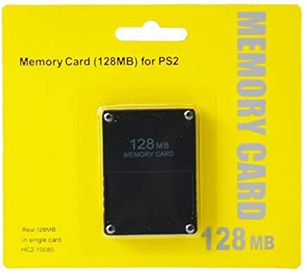 RUITROLIKER 128MB Memory Card Speicherkarte für PlayStation 2 PS2 Konsole Schwarz