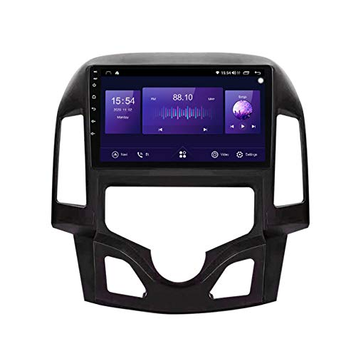 ADMLZQQ Android 10 Radio estéreo del Coche para Hyundai I30 2007-2012 MP5 Reproductor navegación GPS FM DSP Bluetooth WiFi SWC Pantalla Dividida+ Cámara de Respaldo,Auto,7731 WiFi:1+16G
