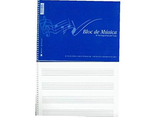 BLOC MUSICA 4º ZORRILLA 20-H 202 4 PENTAGRAMAS