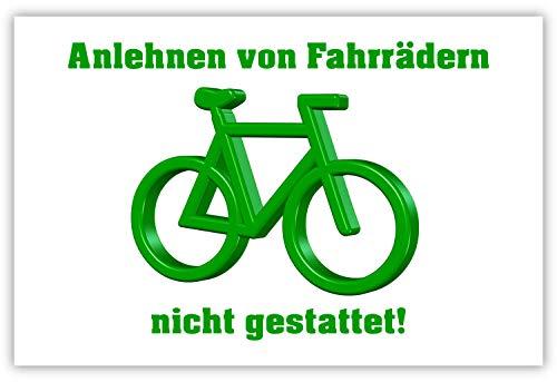SCHILDER HIMMEL anpassbares Fahrrad anlehnen nicht gestattet Schild 30x21cm Alu-Verbund, Nr 5330 eigener Text/Bild verschiedene Größen/Materialien