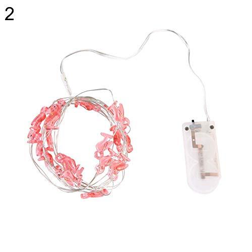 Muzhili3 LED-Lichterkette mit 20 LEDs, Kupferdraht, Flamingo-Schneeflocke, Weihnachtsdekoration – 6# 2#