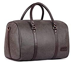 The Clownfish Lincoln Vegan Leather 29 L Travel Duffel Bag (Ash Grey),The Clownfish,TCFDBFL-R29LASH4