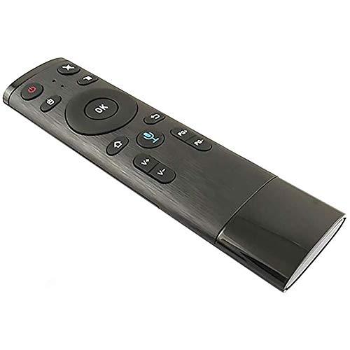 HUBI Control Remoto 2.4G de Voz, Control del ratón Receptor inalámbrico Bluetooth Remoto USB del ratón del Aire para un Crecimiento Inteligente Android TV Box IPTV,2.4g+Voice