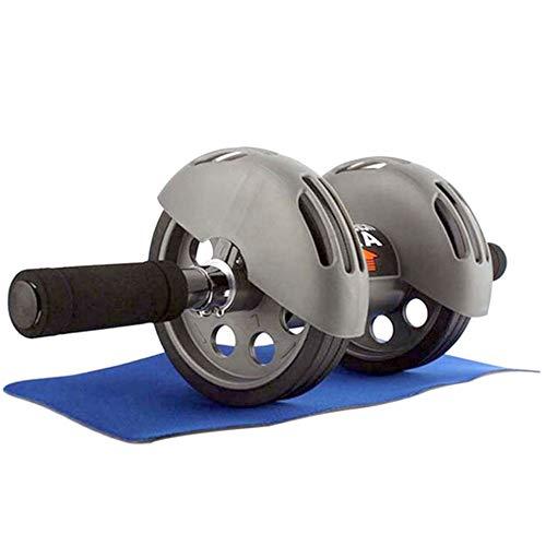 XUMI Rueda Abdominales, Rueda AB 2 Abdominal Abs Trainer para Culturismo Fitness Antideslizante Wheel Mute Roller De Fuerza De Entrenamiento En El Hogar, con Alfombrilla, hasta 500 Kg
