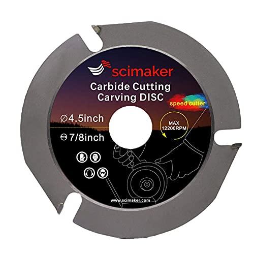 4 1/2 Angle Grinder Wood Carving Disc Cutting Wheel, 3 Teeth Circular Saw Blades with 7/8