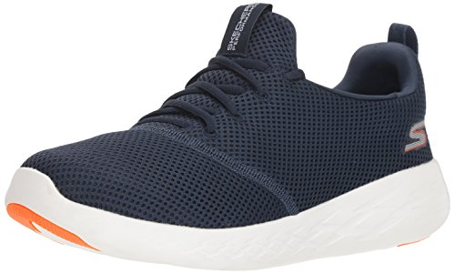 Skechers Men's GO Run 600 55076 Sneaker, Navy/Orange, 10 M US