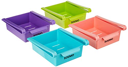 Amazon Brand - Solimo Fridge Organizer Set (4 pieces)