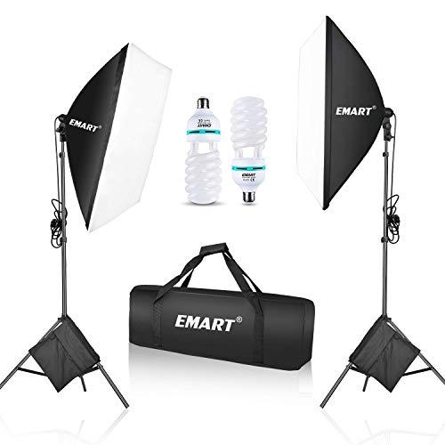 EMART Softbox Lighting Kit with Sandbags, 20'x28'/50x70cm 1050W...