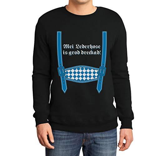 Oktoberfest Wiesn Outfit MEI leren broek is groad dreckad sweatshirt