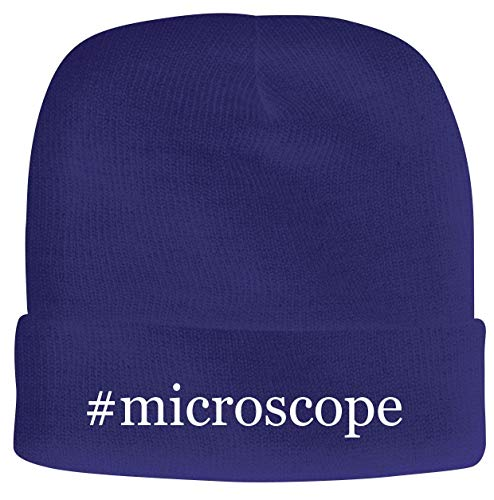 BH Cool Designs #Microscope - Men's Hashtag Soft & Comfortable Beanie Hat Cap, Blue, One Size