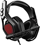 [Bass Edition] Mpow Iron Gaming Headset PS4 PC USB Headset, 7.1Surround Sound Bass Version,50MM Large Chamber Drivers, Noise Cancelling Mic, RGB Light 3.5mm Xbox One Computer Headset
