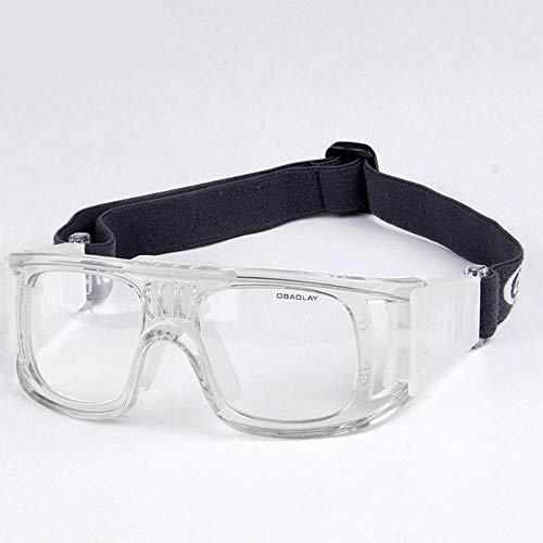 Uteruik Sportbrille - Basketball Soccer Eyewear Schutzbrille für Erwachsene, Weiß