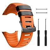 ANCOOL Compatible with Suunto Core Watch Band,Soft TPU Replacement Strap Sport Wristband Metal Claspfor Suunto CoreFitness Smart Watch-Orange