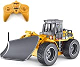 Zeyujie RC Truck Remote Control Snow Plow 6 Channel 2.4G Alloy Snow Sweeper Vehicle 4WD Tractor Toy with Lights for Kids