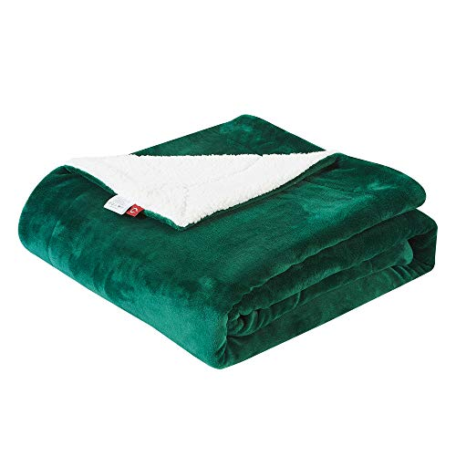 SOCHOW Sherpa Fleece Throw Blanket, Double-Sided Super Soft Luxurious Plush Blanket Throw Size, Green