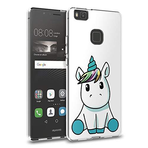 Zhuofan Plus Funda Huawei P9 Lite, Silicona Suave Clara Transparent TPU Gel con Diseño Print Pattern Anti-rasguños Shockproof Protactivo Cover para Huawei P9 Lite, Unicornio