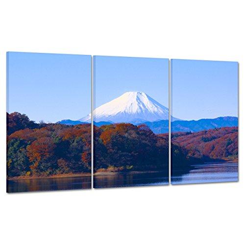 ConKrea Marco Sobre Lienzo Canvas Listo para Colgar–Monte Fuji–Japón–Paisaje Naturaleza Panorama