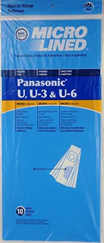 20 Panasonic de type U, U3, U6 DVC Micro-lined en Sacs d'aspirateur, Lot de 20.