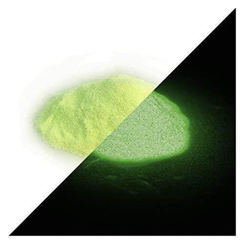 lumentics nagloeiende glitter geel 50 g - in het donker heldere glitter om te knutselen voor kleur, hars, lak, kunst, vingernagels. Glow in The Dark Flitter. Fluorescerend UV-knutselmateriaal.
