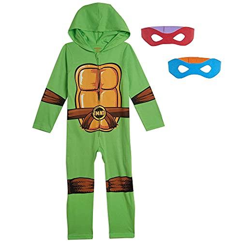 Nickelodeon Teenage Mutant Ninja Turtles Toddler Boys Hooded Costume Coverall & Mask Set 4T