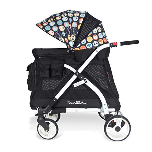 Fantastic Prices! Familidoo Multi-Purpose Folding Single Stroller Wagon with Deep Carriage, Zipper D...