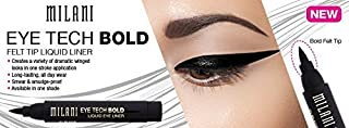 Milani Eye Tech Bold Liquid Eyeliner, 01 Black (Pack of 2)