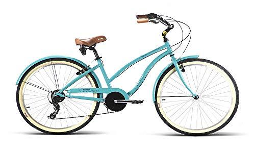 JLWENTI Bicicleta Playera Beach Cruiser