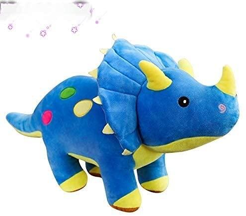 Simulación Dinosauri Peluche Toys Dibujos Animados Lifelike Triceratops St Muñeco Juguete Modelo Animal para Niños Boys Baby Birthday Regalos Azules 40 cm Azul Mengheyuan