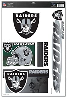 OAKLAND RAIDERS OFFICIAL LOGO 11X17 ULTRA DECAL WINDOW CLING