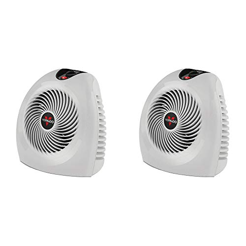 Vornado VH2 Whole Room Vortex Electric Portable Space Heater, White (2 Pack)
