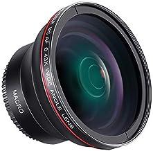 Neewer 58MM 0.43x Professional HD Wide Angle Lens (Macro Portion) for Canon EOS Rebel 77D T7i T6s T6i T6 T5i T5 T4i T3i T3...