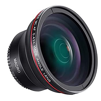 Neewer 58MM 0.43x Professional HD Wide Angle Lens  Macro Portion  for Canon EOS Rebel 77D T7i T6s T6i T6 T5i T5 T4i T3i T3 SL1 1100D 700D 650D 600D 550D 300D 100D 60D 7D 70D