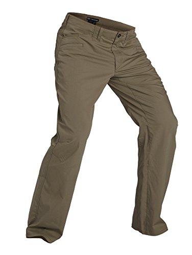 5.11 Tactical Men's Ridgeline Covert Work Pants, Teflon Finish, Poly-Cotton Ripstop Fabric, Stone, Style 74411
