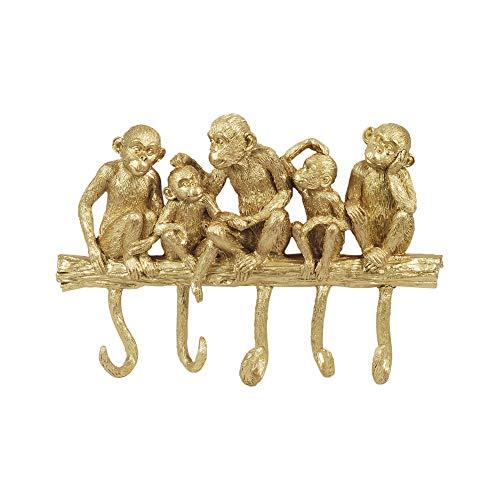 Perchero de Pared Monos Resina 25 cm