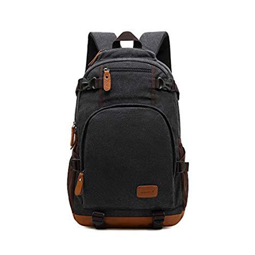 Wewo wasserfest Schoolbag Groß Leinwand Schultasche Jugendliche Backpack Hochschule Einfarbig Schulrucksack Jungen Schule Rucksack Laptop