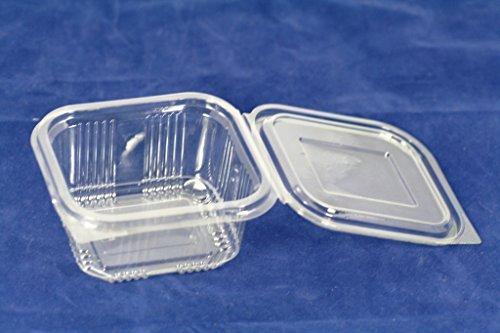 Pak van 75) 375 ml Koekjes Koekje Cracker Salade Containers Afhalen Snelle Voedsel Wegwerp Doos Plastic Deksel Opslag, Koekje Koekje Cracker Sponge Salade Containers