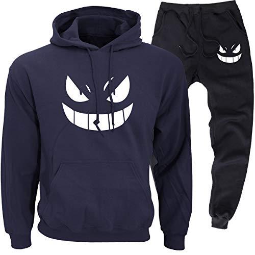Pokémon Unisexe Homme Survêtement 2 Pièces Loisir Jogging Slim Fit Sweat à Capuche et Pantalons (1,EUS(AsianM))