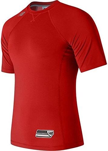 New Balance Men's Short Sleeve 3000 Baseball Top, Team rouge, X-Large