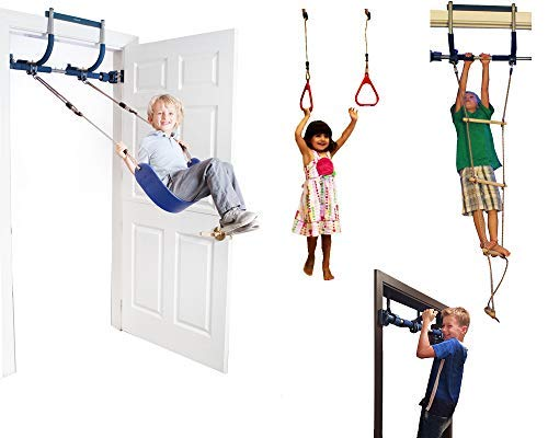 Gym1 Indoor Playground Doorway Gym with Swing Rope Ladder and Rings