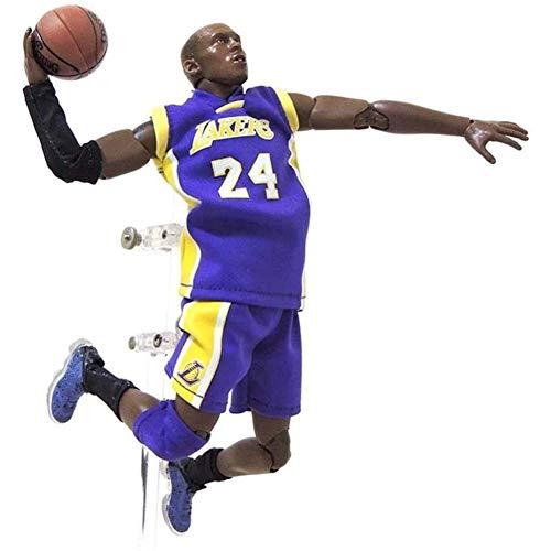 NBA Stella del Basket No. 24 L.A. Lakers Kobe Bryant Action Figure, Statua Giocattolo Giunto Mobile PVC di Protezione Ambientale di Alta qualità Adatto per La Raccolta Hobbistica -21.5Cm