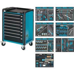 Hazet Werkstattwagen Assistent mit Sortiment 179-8/244 ∙ Länge x Breite x Höhe: 817 x 502 x 1040 mm ∙ Anzahl Werkzeuge: 244