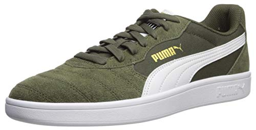 PUMA Men's Astro Kick Sneaker, forestnight-White-teamgold, 6 M US
