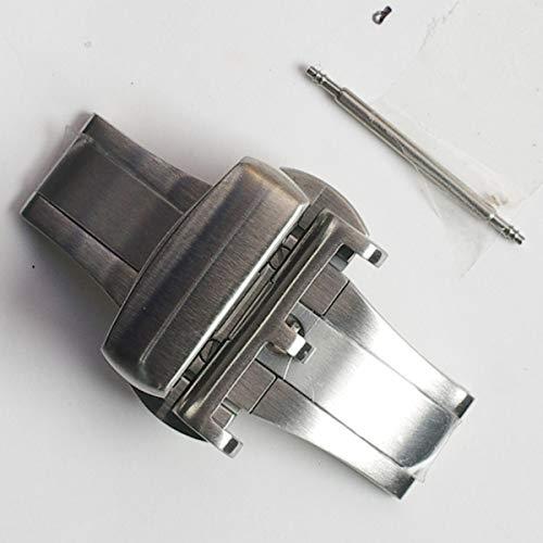 松重商店 DX08n 22mm つく棒穴隠しツメ付き高品質観音開きワンタッチ式Dバックル 銀色艶なし