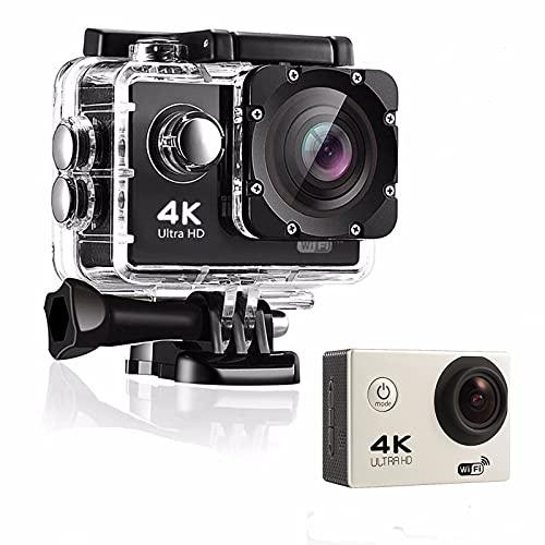 HYSK Telecamera d'azione 4K, 20mp, Fotocamera Digitale Subacquea 30m, Fotocamera Iper...