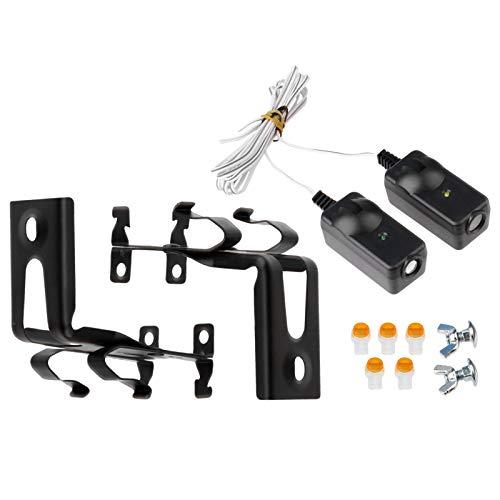 Safety Sensor Beam Eyes for 41A5034 Liftmaster Sears Chamberlain Craftsman Garage Door Opener w/ Brackets (1 kit)