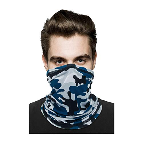 Neck Gaiter Face Mask Reusable, Sun UV Protection Face Cover Scarf, Elastic Face Masks Breathable Balaclava Bandana for Men Women
