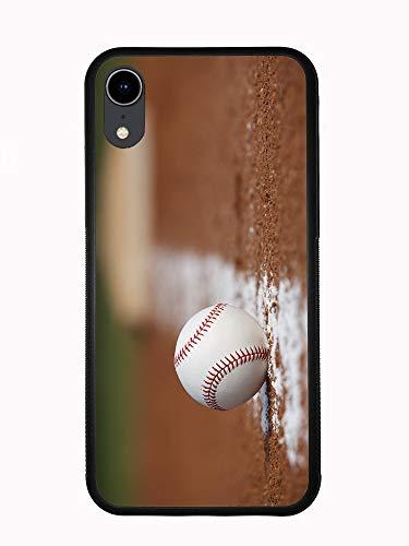 Schutzhülle für iPhone XR 6.1 2018, Motiv: Baseball On Infield Chaulk Line