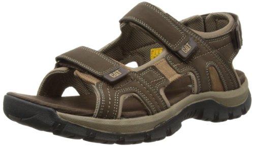 Cat Footwear Herren Giles Sandalen, braun (Mens Dark Brown), 46 EU