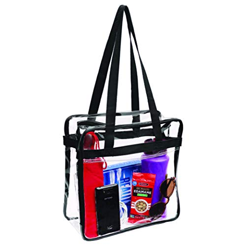 HIGH-QUALITY – Bags for Less specializes in clear handbags, that are made from high-quality material, clear vinyl that are nice, and yet lightweight. This clear tote bag features reinforced fabric seams to make sure your items stay perfectly secure. ...